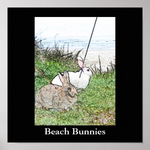 Beach Bunnies Poster