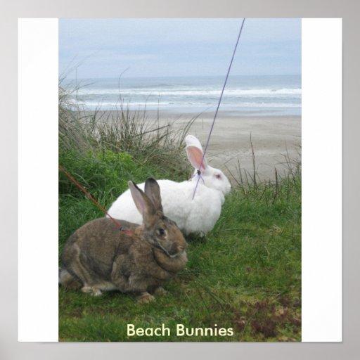 Beach Bunnies Poster - Customized