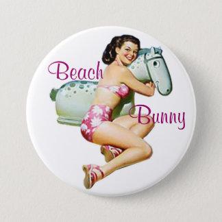 Beach Bunny Pin-Up Button