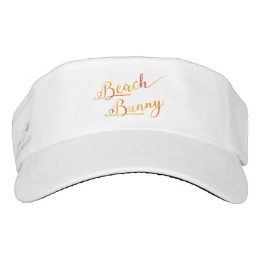 Beach Themed Beach Bunny Stylized Peach Color Swirl Font Visor
