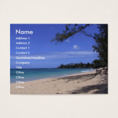 Beach Business Card at Zazzle