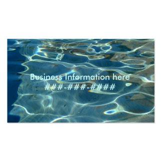 beach business card template
