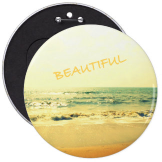 Beach 6 Inch Round Button