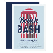 Beach Cabana Birthday Party Invitation