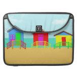 Beach Cabanas MacBook Pro Sleeves