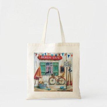 Beach Themed Beach Cafe Tote Bag
