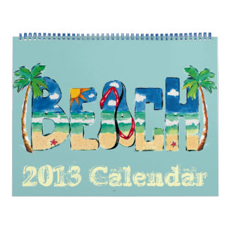 Beach calendar  2013