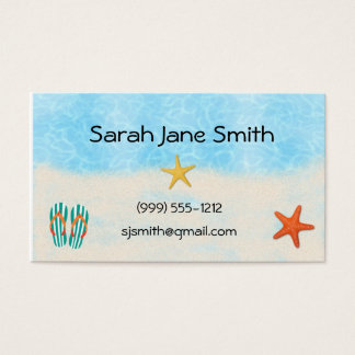 Beach calling cards / business cards (#BUS 009)