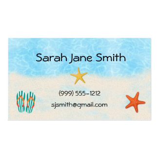 Beach calling cards business cards BUS 009