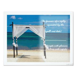 beach canopy rsvp card