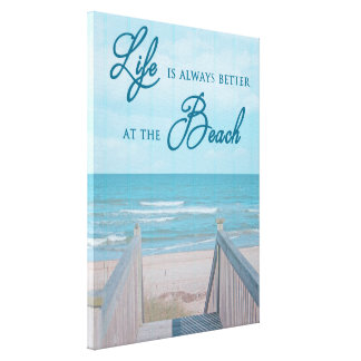 BEACH CANVAS PRINT WITH QUOTE