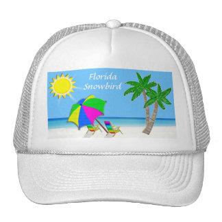 Beach Caps for Men and Women Snowbird Gifts Trucker Hat
