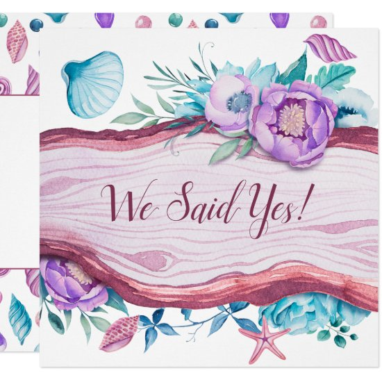 Beach Caribbean Themed Wedding Reception Invitation