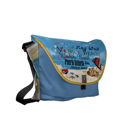 Beach Cats Beach Bag with your Name on the Bottom