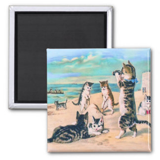 Beach Cats Magnet