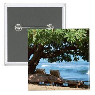 Beach Chair 2 Pinback Button