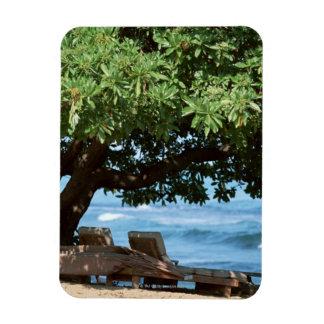 Beach Chair 2 Vinyl Magnet
