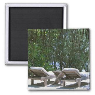 Beach Chair 5 Fridge Magnets