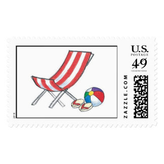 Beach Chair and Flip Flops Postage