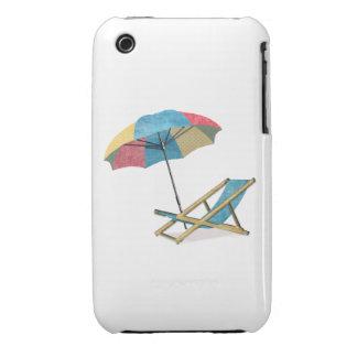 Beach Chair and Umbrella Case-Mate iPhone 3 Case