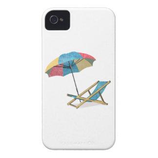 Beach Chair and Umbrella iPhone 4 Case-Mate Case
