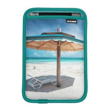 Beach Themed Beach Chair And Umbrella | Silver Sands Beach iPad Mini Sleeve
