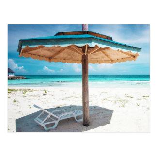 Beach Chair And Umbrella | Silver Sands Beach Postcard