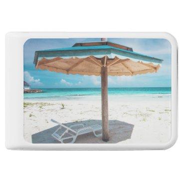 Beach Themed Beach Chair And Umbrella | Silver Sands Beach Power Bank