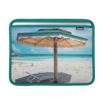 Beach Themed Beach Chair And Umbrella | Silver Sands Beach Sleeve For MacBook Air
