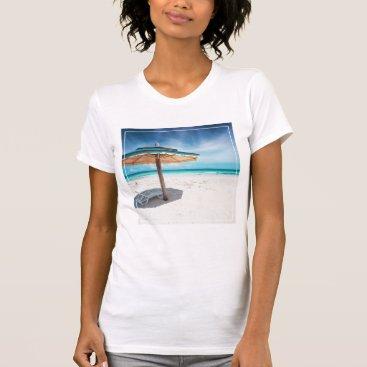 Beach Themed Beach Chair And Umbrella   Silver Sands Beach T-Shirt