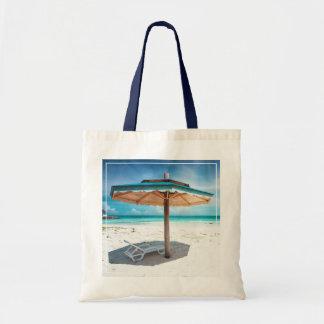 Beach Chair And Umbrella | Silver Sands Beach Tote Bag