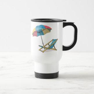 Beach Chair and Umbrella Travel Mug
