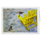 Beach Chair Blank Greeting Card