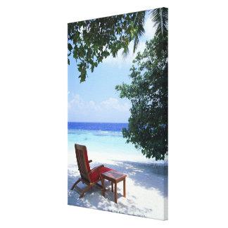Beach Chair Stretched Canvas Print