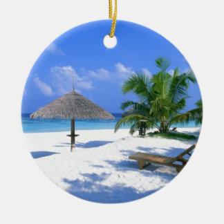 Beach Chair Ceramic Ornament