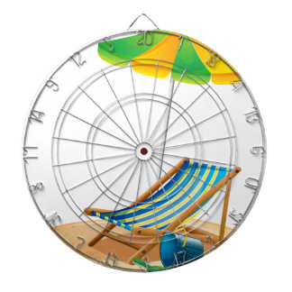 Beach chair dartboard