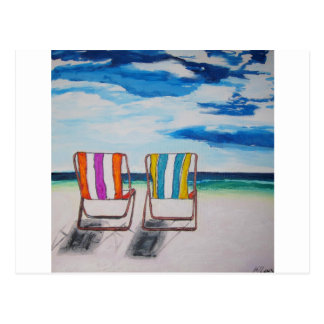 Beach Chair Delight Post Cards