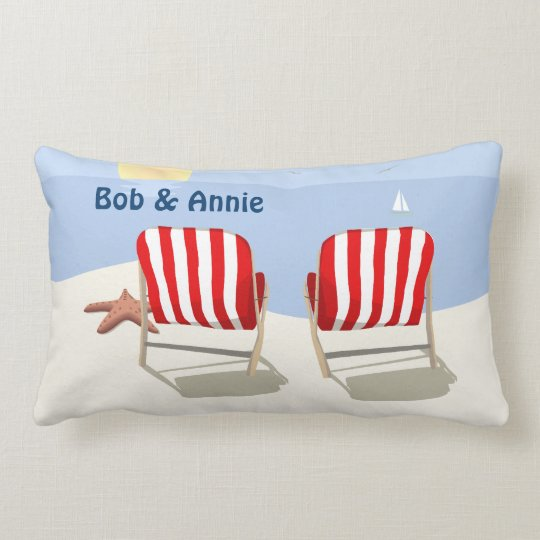 Beach Chair Retired Personalized Pillow
