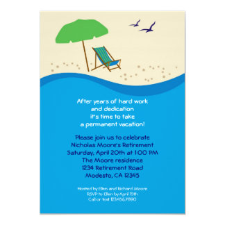 Beach Chair Retirement Party Invitation
