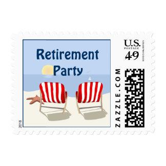 Beach Chair Retirement Postage