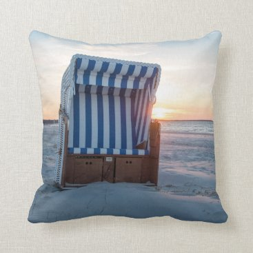 Beach Themed Beach chair throw pillow