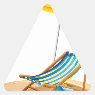 Beach chair triangle sticker