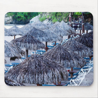 Beach Chairs And Shelters Mouse Pad