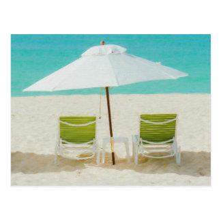 Beach Chairs, Anguilla Postcard