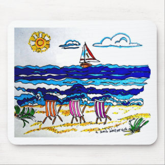 BEACH CHAIRS AT SEASIDE MOUSE PAD