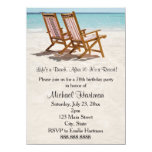 Beach Chairs Birthday Party Invitations