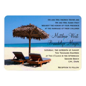 Beach Chairs Destination Wedding Invitation 5