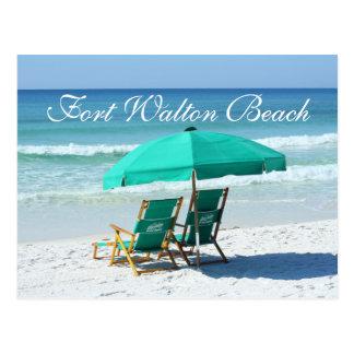 Beach Chairs - Fort Walton Beach, Florida Postcard