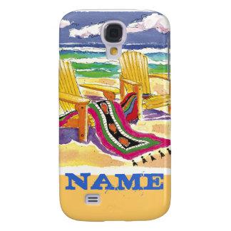 Beach chairs -iPhone case Samsung Galaxy S4 Covers
