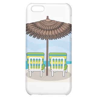 Beach Chairs Case For iPhone 5C